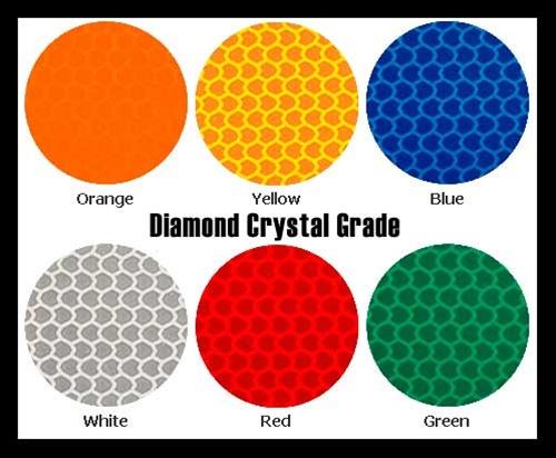 Reflective Crystal Grade Diamond Grade Sign Vinyl Type